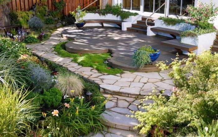 Organic redwood deck / Alameda County