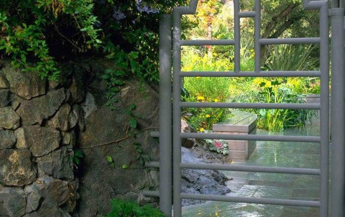 Steel garden gate / Kentfield