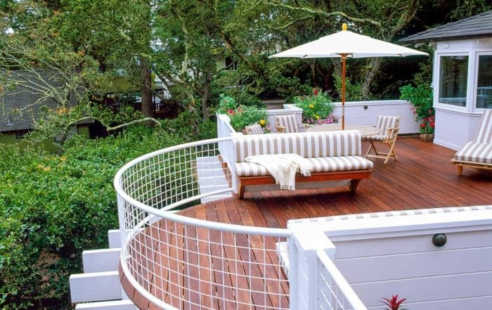 Curved Ipe deck / Mill Valley