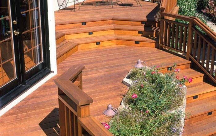 Multi-level redwood deck / Marin County