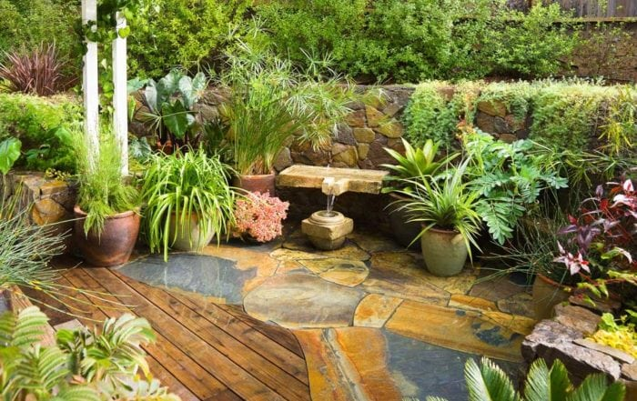 Garden & fountain / San Anselmo