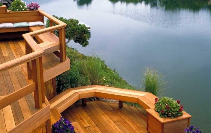 Waterfront redwood deck / Seadrift