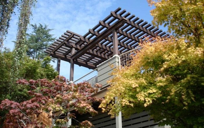 Elevated deck with shade structure / Montclair